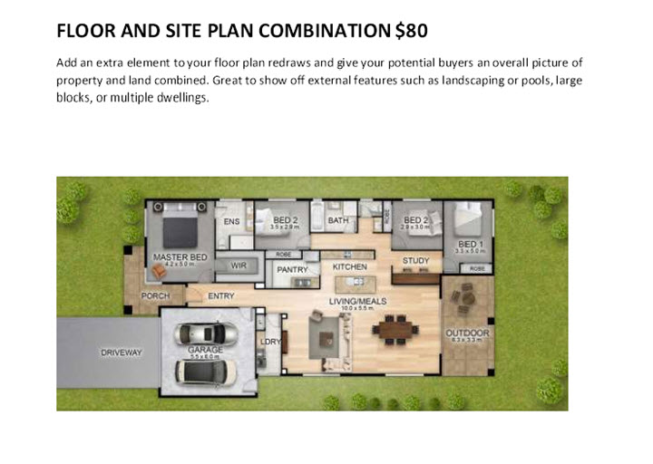 Floor Plans By Drone Services Gold Coast Floor and Site Plan Combined